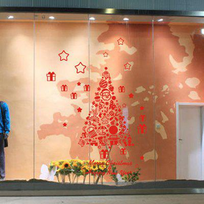 Buy RED MCYH Christmas Tree Pattern Wall Sticker for $7.70 in GearBest store