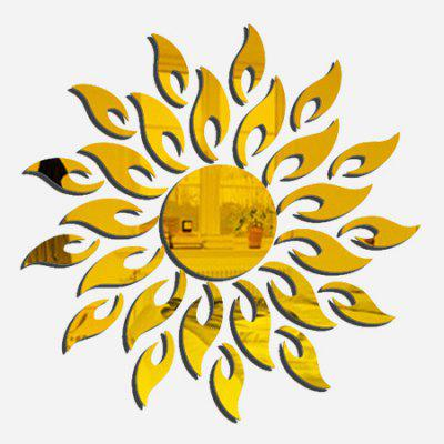 Household Decorative Sun Shape Mirror Wall Stickers