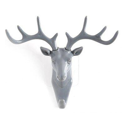 Deer Head Shape Hook Practical Home Decoration
