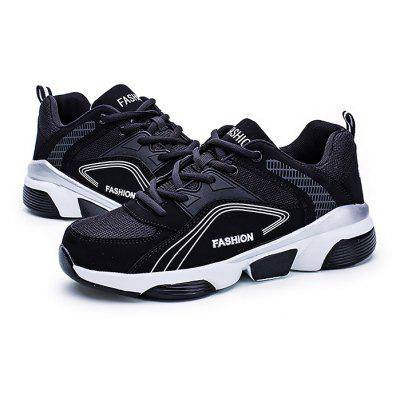 Masculino respirável Thick Soled Sports Casual Sneakers