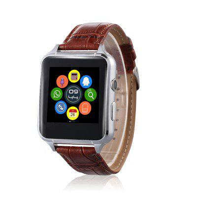 X7 Quad Band Smartwatch PhoneSmart Watch Phone<br>X7 Quad Band Smartwatch Phone<br><br>Additional Features: Waterproof, MP4, Notification, Bluetooth, MP3, 2G<br>Battery: 300mAh built-in Li-ion battery<br>Bluetooth: Yes<br>Bluetooth Version: V4.0<br>Camera type: Single camera<br>Cell Phone: 1<br>CPU: MTK6261<br>English Manual: 1<br>External Memory: TF card up to 64GB (not included)<br>Frequency: GSM850/900/1800/1900MHz<br>Front camera: 0.3MP<br>IPS: Yes<br>Languages: English, French, German, Spanish, Italian, Dutch, Russian, Polish, Turkish, Portuguese<br>Music format: MP3<br>Network type: GSM<br>Package size: 12.00 x 10.30 x 9.20 cm / 4.72 x 4.06 x 3.62 inches<br>Package weight: 0.2020 kg<br>Picture format: PNG, JPEG, BMP<br>Product size: 25.60 x 4.08 x 1.25 cm / 10.08 x 1.61 x 0.49 inches<br>Product weight: 0.1230 kg<br>RAM: 64MB<br>ROM: 128MB<br>Screen resolution: 240 x 240<br>Screen size: 1.54 inch<br>Screen type: LCD<br>Screwdriver: 1<br>SIM Card Slot: Single SIM<br>TF card slot: Yes<br>Type: Watch Phone<br>USB Cable: 1<br>Video format: MP4<br>Wireless Connectivity: Bluetooth 4.0, GSM