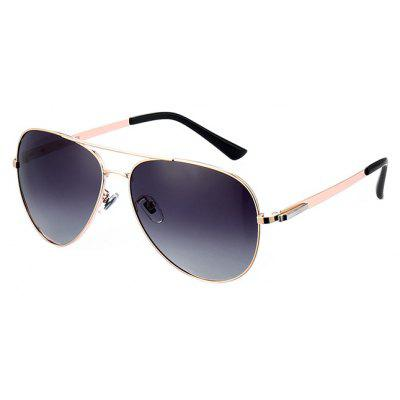 Buy GOLD FRAME+GREY LENS Men Chic Classical Anti Oil Sunglasses for $25.60 in GearBest store