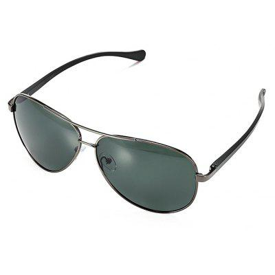 Buy GUN METAL FRAME + GREY LENS Men Ultralight Polarized Sunglasses for $12.47 in GearBest store