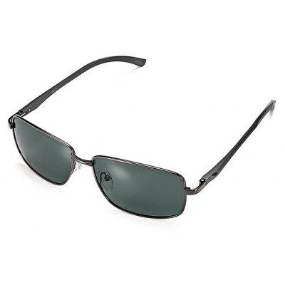 Buy GUN METAL FRAME + GREY LENS Men Metal Frame Polarized Goggles for $12.42 in GearBest store
