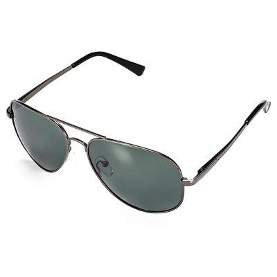 Buy GUN METAL FRAME + GREY LENS Ultraviolet-proof Men Polarized Goggles for $12.45 in GearBest store