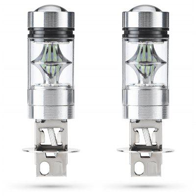 H3 100W 8000K Car LED Fog Lamp - 2pcs
