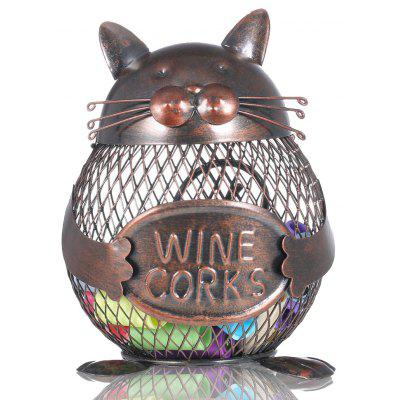 MCYH 517 Creative Metal Figurine Ferro Fortune Cat Corks Pot