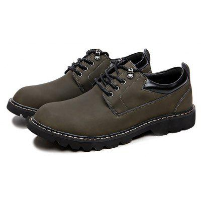 Masculino British Business Casual Soft Lace Leather Shoes