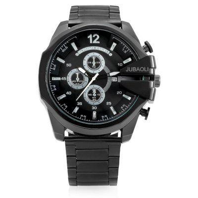 JUBAOLI G4280 Quartz Men WatchMens Watches<br>JUBAOLI G4280 Quartz Men Watch<br><br>Band material: Steel<br>Band size: 17.5 x 2.3cm<br>Brand: Jubaoli<br>Case material: Alloy<br>Clasp type: Folding clasp with safety<br>Dial size: 5.2 x 5.2 x 1.2cm<br>Display type: Analog<br>Movement type: Quartz watch<br>Package Contents: 1 x Watch, 1 x Box<br>Package size (L x W x H): 8.50 x 8.00 x 5.30 cm / 3.35 x 3.15 x 2.09 inches<br>Package weight: 0.2010 kg<br>Product size (L x W x H): 23.00 x 5.20 x 1.20 cm / 9.06 x 2.05 x 0.47 inches<br>Product weight: 0.1470 kg<br>Shape of the dial: Round<br>Watch style: Fashion<br>Watches categories: Men<br>Water resistance: Life water resistant