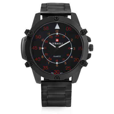 JUBAOLI G1145 Steel Band Quartz Analog Male Wrist WatchMens Watches<br>JUBAOLI G1145 Steel Band Quartz Analog Male Wrist Watch<br><br>Band material: Stainless Steel<br>Band size: 21cm<br>Brand: Jubaoli<br>Case material: Alloy<br>Clasp type: Folding clasp with safety<br>Dial size: 5.5cm Diameter<br>Movement type: Quartz watch<br>Package Contents: 1 x Mens Watxh, 1 x Packing Box<br>Package size (L x W x H): 8.50 x 8.00 x 5.30 cm / 3.35 x 3.15 x 2.09 inches<br>Package weight: 0.1800 kg<br>Product size (L x W x H): 5.50 x 1.30 x 21.00 cm / 2.17 x 0.51 x 8.27 inches<br>Product weight: 0.1400 kg<br>Shape of the dial: Round<br>Watch style: Fashion, Casual<br>Watches categories: Men