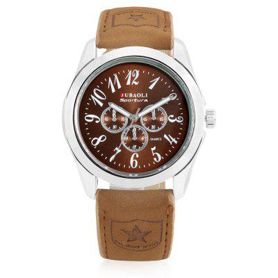 JUBAOLI A1175 Fashion Men WatchMens Watches<br>JUBAOLI A1175 Fashion Men Watch<br><br>Band material: Leather<br>Band size: 25.5 x 2cm<br>Brand: Jubaoli<br>Case material: Alloy<br>Clasp type: Pin buckle<br>Dial size: 4.2 x 4.2 x 1.2cm<br>Display type: Analog<br>Movement type: Quartz watch<br>Package Contents: 1 x Watch, 1 x Box<br>Package size (L x W x H): 8.50 x 8.00 x 5.50 cm / 3.35 x 3.15 x 2.17 inches<br>Package weight: 0.1080 kg<br>Product size (L x W x H): 25.50 x 4.20 x 1.20 cm / 10.04 x 1.65 x 0.47 inches<br>Product weight: 0.0560 kg<br>Shape of the dial: Round<br>Watch style: Fashion<br>Watches categories: Men<br>Water resistance: Life water resistant<br>Wearable length: 19.5 - 23.5cm