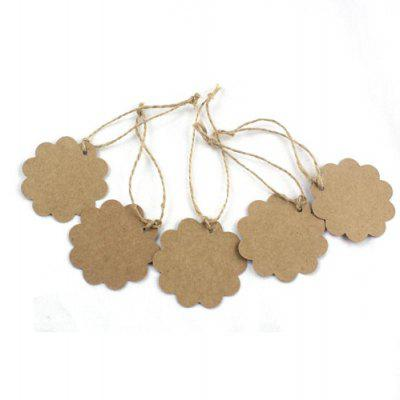 100pcs Round Wave Kraft Paper for Gift Message