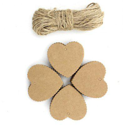 Buy WOOD 100pcs Wave Love DIY Handmade Kraft Paper for Message for $2.70 in GearBest store