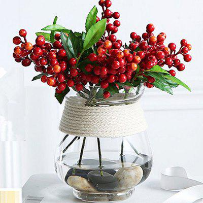 Deux branches Artificial Red Berry Flowers for Home Decoration