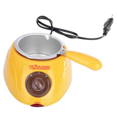 Electric Chocolate Melting Pot for Fondue PartyOthers<br>Electric Chocolate Melting Pot for Fondue Party<br><br>Package Contents: 1 x Basic Machine, 1 x Melting Pot, 1 x Spatula, 1 x Draining Rack, 1 x Spiral Fork, 1 x Flat Fork, 10 x Wooden Skewer, 10 x Plastic Fork, 7 x Mold, 1 x English User Manual<br>Package size (L x W x H): 23.50 x 15.50 x 18.00 cm / 9.25 x 6.1 x 7.09 inches<br>Package weight: 0.6000 kg<br>Power (W): 20<br>Product size (L x W x H): 14.50 x 19.00 x 8.00 cm / 5.71 x 7.48 x 3.15 inches<br>Product weight: 0.3040 kg<br>Type: Handheld<br>Voltage (V): 220 - 240V