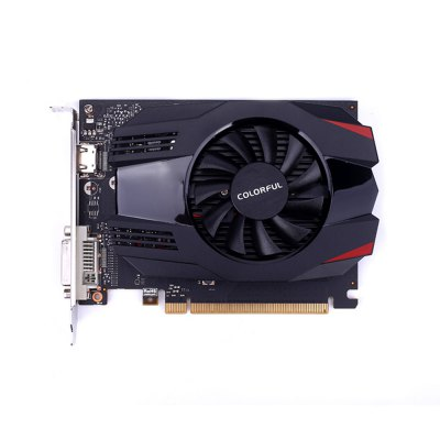 Colorful NVIDIA GeForce GT 1030 2G Video Graphics CardGraphics &amp; Video Cards<br>Colorful NVIDIA GeForce GT 1030 2G Video Graphics Card<br><br>Brand: Colorful<br>Chipset Manufacturer: NVIDIA<br>CUDA Cores: 384<br>Engine Clock: 1227MHz<br>Graphics Chipset: GeForce GT 1030<br>I/O Interface: 1 x HDMI, 1 x DVI<br>Interface Type: PCI-E 3.0<br>Maximum Resolution: 7680 x 4320<br>Memory Bus Width: 64Bit<br>Package size: 23.00 x 15.00 x 5.00 cm / 9.06 x 5.91 x 1.97 inches<br>Package weight: 0.5600 kg<br>Packing List: 1 x Video Graphics Card<br>PCI Express Type: X16<br>Power: 30W<br>Power Interface: 2 Pin<br>Process Technology: 14nm<br>Product size: 17.00 x 12.50 x 3.50 cm / 6.69 x 4.92 x 1.38 inches<br>Product weight: 0.4000 kg<br>Radiator Type: One Fan<br>Supports System: Ubuntu 16.04 64bit, Windows 10, Windows 7, Windows 8<br>Video Memory Capacity: 2GB<br>Video Memory Frequency: 6000MHz<br>Video Memory Type: GDDR5
