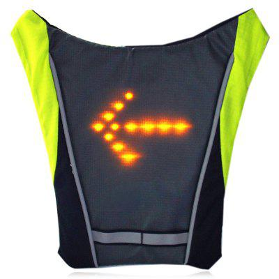 Nylon 10L Turning Signal LED Backpack with Remote ControllerDuffel Bags<br>Nylon 10L Turning Signal LED Backpack with Remote Controller<br><br>Bag Capacity: 10L<br>Capacity: 1 - 10L<br>Features: Ultra Light, Water Resistance<br>For: Cycling, Sports<br>Gender: Unisex<br>Material: Nylon<br>Package Contents: 1 x LED Backpack, 1 x Remote Controller, 1 x USB Cable<br>Package size (L x W x H): 26.00 x 26.00 x 4.00 cm / 10.24 x 10.24 x 1.57 inches<br>Package weight: 0.4400 kg<br>Product size (L x W x H): 25.00 x 25.00 x 15.00 cm / 9.84 x 9.84 x 5.91 inches<br>Product weight: 0.2900 kg<br>Strap Length: 45 - 70cm<br>Style: Sport, Leisure<br>Type: Backpack