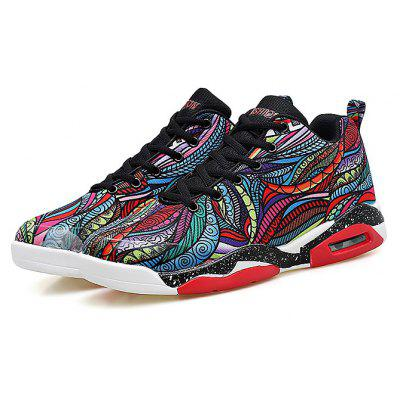 Male Stylish Colorful Air Cushion Sports Basketball Sneakers