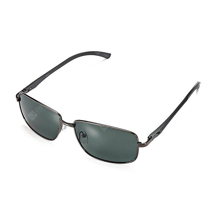 GUN METAL FRAME + GREY LENS Men Metal Frame Polarized Goggles
