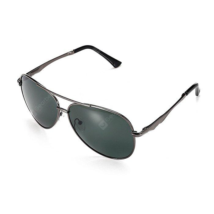 GUN METAL FRAME + GREY LENS Ultralight Men Polarized Goggles
