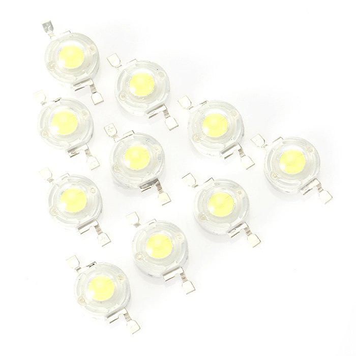 1W 2 Broches 475 - 525lm 6000K Emetteur de Perles LED 3 - 6V 10pcs