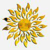 Household Decorative Sun Shape Mirror Wall Stickers - GOLDEN