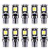 10pcs SMD5050 LED Car Error Wedge Clearance Light - BLUE