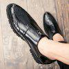 Elegante tallado Zipped Soft Casual Shoes - NEGRO