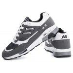 Buy Male Trendy Anti Slip Lace Breathable Running Sneakers DEEP GRAY