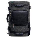 Large Capacity Canvas Travel Backpack - DEEP GRAY