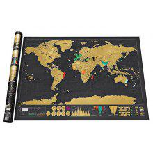 Erase Travel World Map Wall Stickers