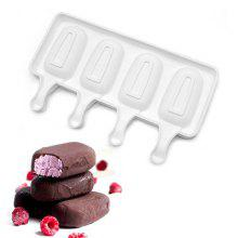 AK Four Holes Mini Chocolate Ice Cream Jelly Mousse Mold
