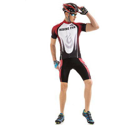 RIDING FUN Men Short-sleeved Summer Riding Clothes Suit