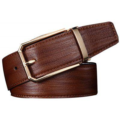 Men Genuine Leather Pin Buckle Trouser Belt