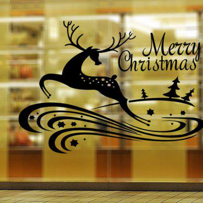 Buy BLACK MCYH WL63 Christmas Decoration Deer Wall Sticker for $9.37 in GearBest store