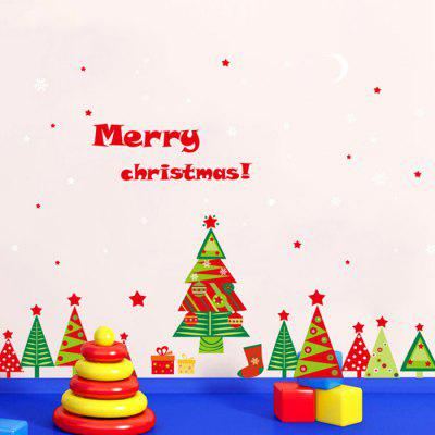 Buy RED MCYH WL62 Christmas Decoration Trees Wall Sticker for $8.06 in GearBest store
