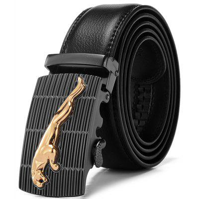 Men Genuine Leather Alloy Buckle Trouser Belt