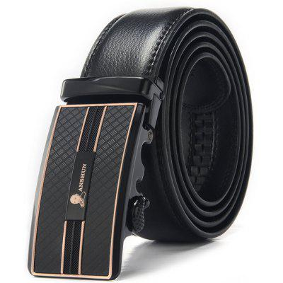 Alloy Automatic Buckle Fashion Leather Men Trouser Belt