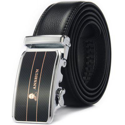 Men Leather Alloy Buckle Trouser Belt
