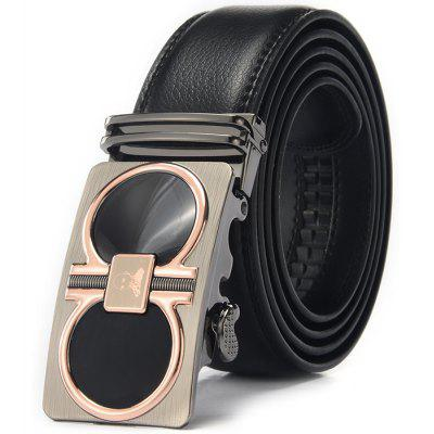 Men Business Pattern Buckle Trouser Belt