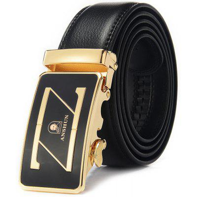 Genuine Leather Men Fashion Alloy Buckle Waist Belt