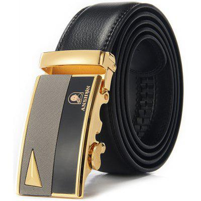 Men Chic Style Alloy Buckle Trouser Belt