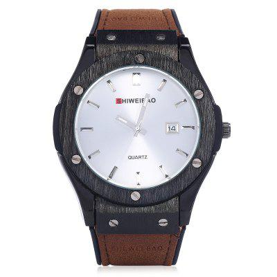 SHI WEI BAO A3184 Quartz Men WristwatchMens Watches<br>SHI WEI BAO A3184 Quartz Men Wristwatch<br><br>Band material: Silicone + Genuine Leather<br>Band size: 25.5 x 2.2cm<br>Case material: Zinc Alloy<br>Clasp type: Folding clasp with safety<br>Dial size: 4.5 x 4.5 x 1.0cm<br>Display type: Analog<br>Movement type: Quartz watch<br>Package Contents: 1 x Wristwatch, 1 x Box<br>Package size (L x W x H): 10.36 x 7.84 x 7.43 cm / 4.08 x 3.09 x 2.93 inches<br>Package weight: 0.1510 kg<br>Product size (L x W x H): 25.50 x 4.50 x 1.00 cm / 10.04 x 1.77 x 0.39 inches<br>Product weight: 0.0810 kg<br>Shape of the dial: Round<br>Watch style: Casual, Fashion<br>Watches categories: Men<br>Water resistance: Life water resistant<br>Wearable length: 18.5 - 23.5cm