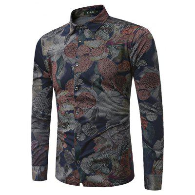 Buy COLORMIX M Stylish Long Sleeve Printing Shirt for $26.80 in GearBest store