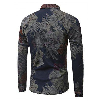 Stylish Long Sleeve Printing ShirtMens Shirts<br>Stylish Long Sleeve Printing Shirt<br><br>Material: Cotton, Lyocell, Polyester<br>Package Contents: 1 x Men Shirt<br>Package size: 35.00 x 30.00 x 2.00 cm / 13.78 x 11.81 x 0.79 inches<br>Package weight: 0.3700 kg<br>Product weight: 0.3500 kg