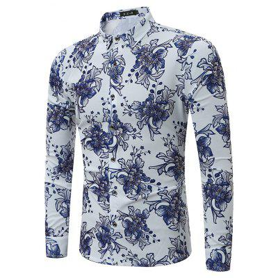 Buy COLORMIX L Stylish Comfortable Long Sleeve Printing Shirt for $26.80 in GearBest store