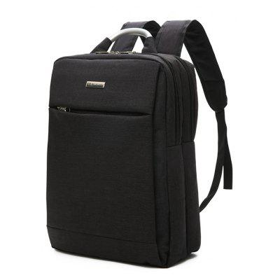Buy BLACK Men Leisure Durable Solid Color Nylon Laptop Backpack for $16.07 in GearBest store