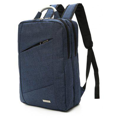 Buy BLUE Men Durable Solid Color Nylon Laptop Backpack for $22.21 in GearBest store