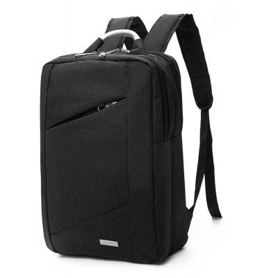 Buy BLACK Men Durable Solid Color Nylon Laptop Backpack for $25.65 in GearBest store