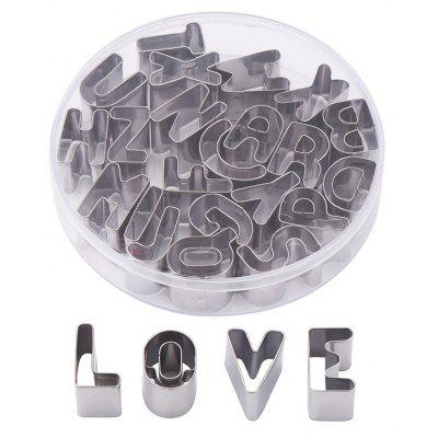 26pcs Alphabet Letters Shape Cookie Biscuit Cutter Mold